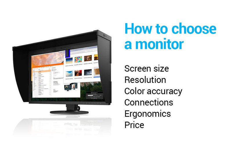How to choose a monitor for graphic design.