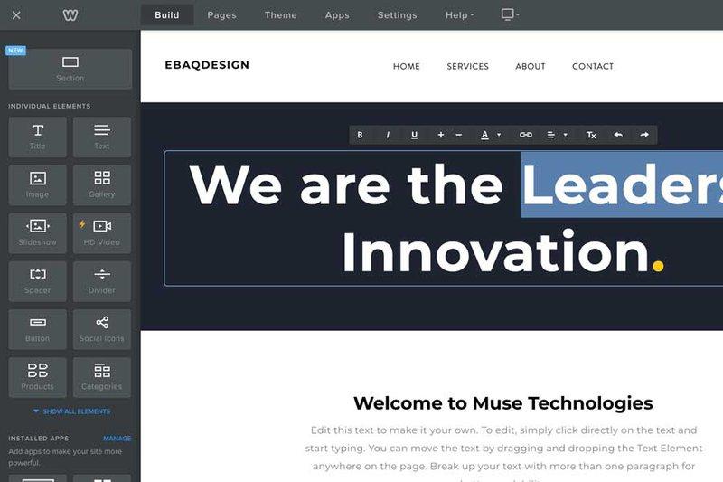 Weebly website builder software online