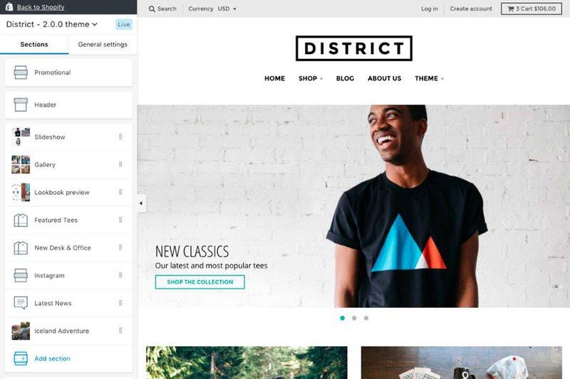 Shopify—the best website builder for online stores