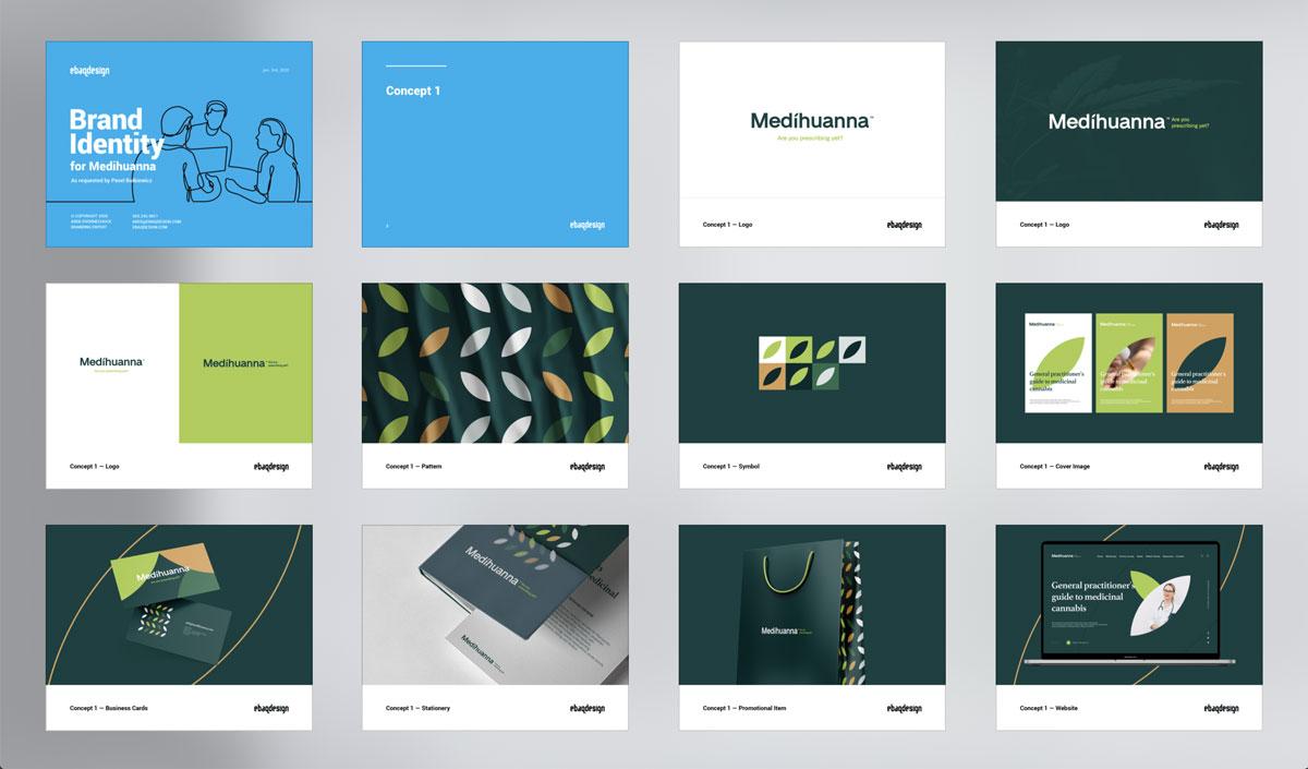 Logo design presentation template—Concept 1