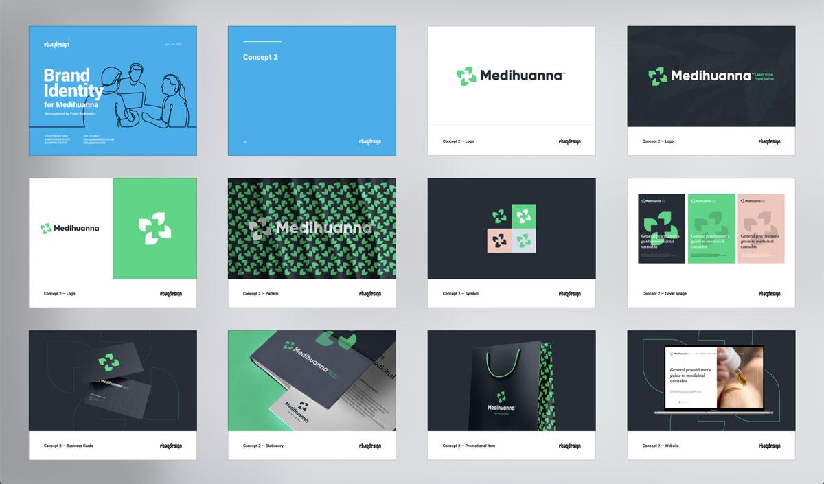Logo design presentation template—Concept 2