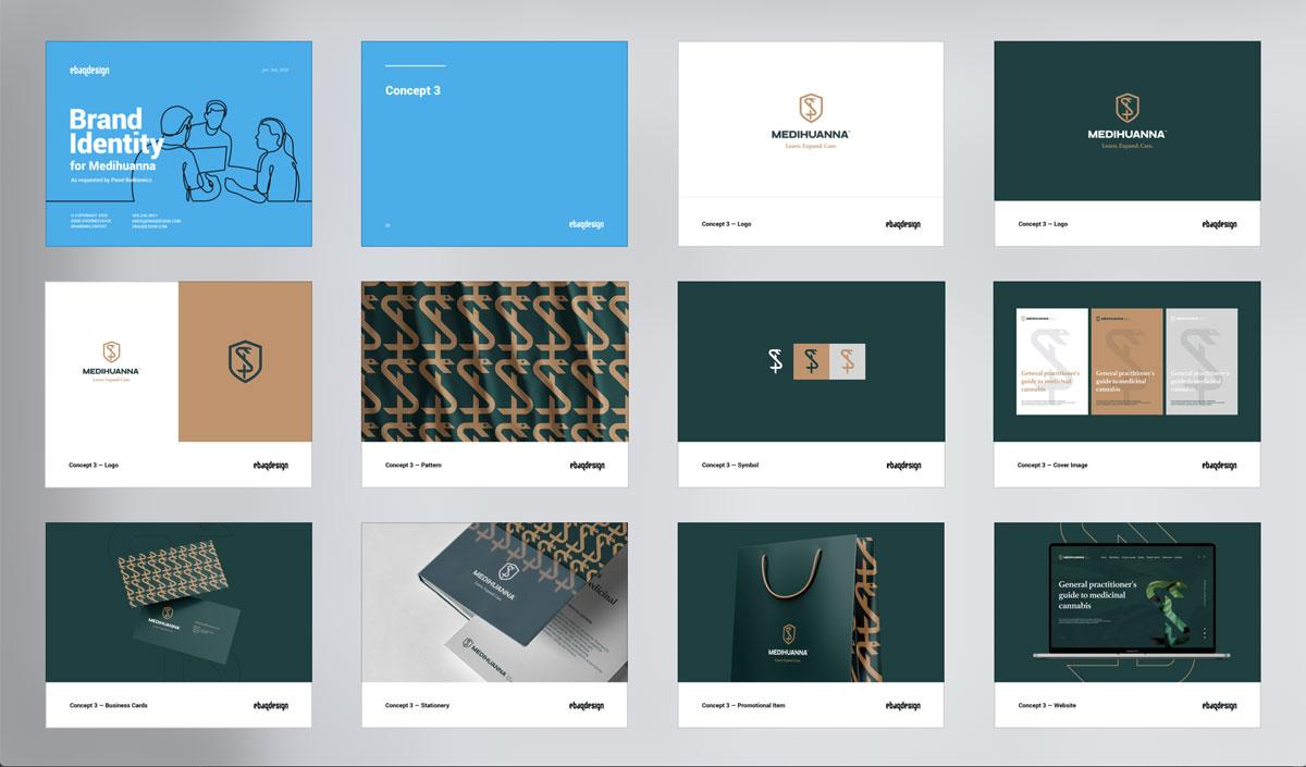 Logo design presentation template—Concept 3
