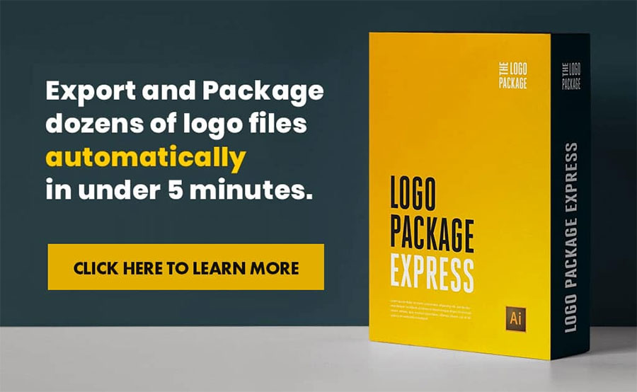 Export and Package dozens of logo files automatically in under 5 minutes.