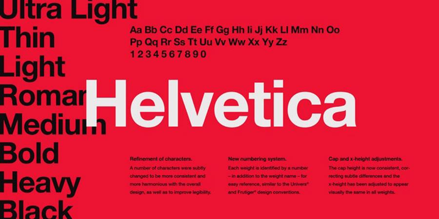 Helvetical Font