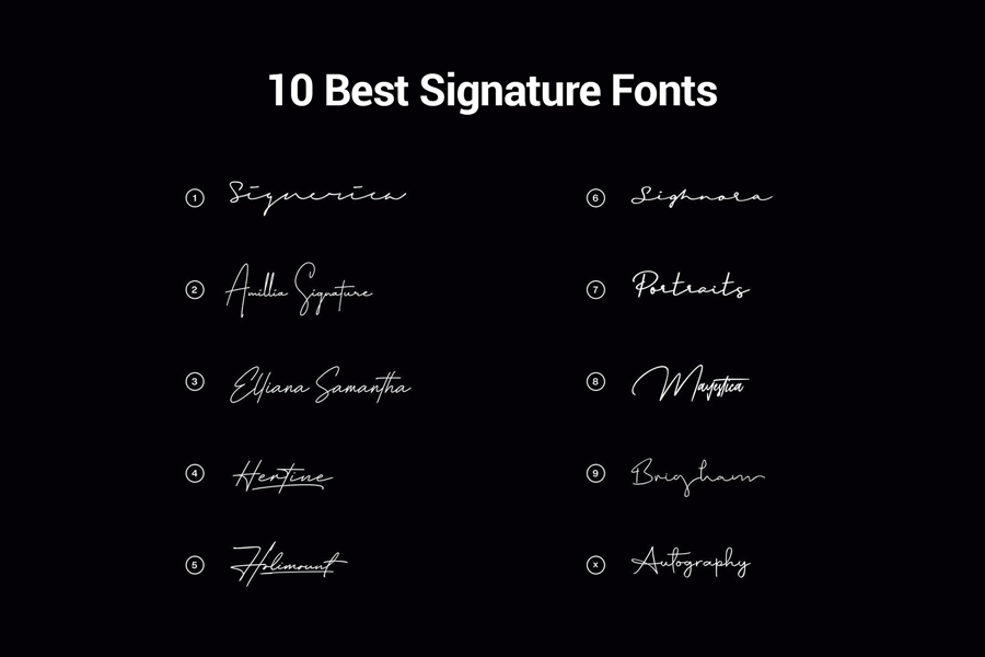10 Best Signature Fonts For Designers.