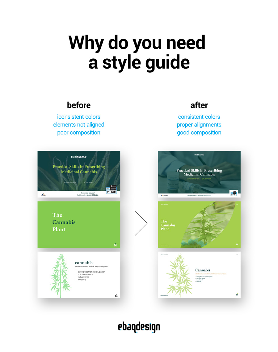 Why do you need a style guide.