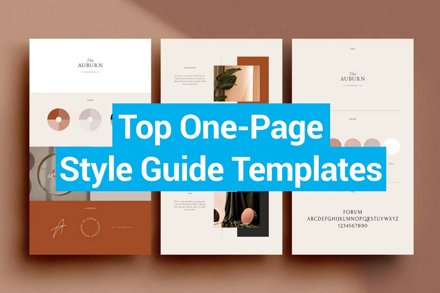 Best One-Page Style Guide Templates