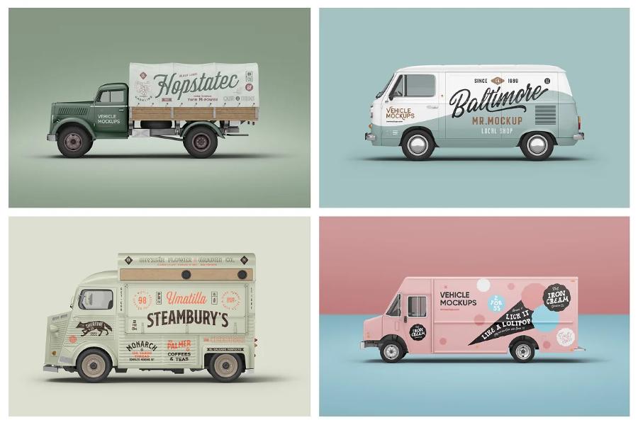 Vehicle & Car Branding Mockups