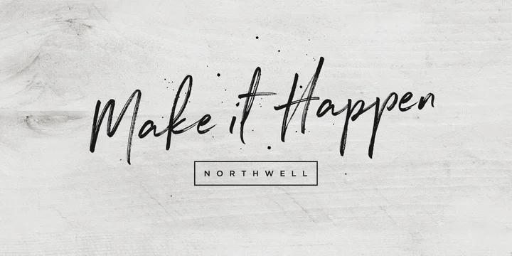Northwell script font