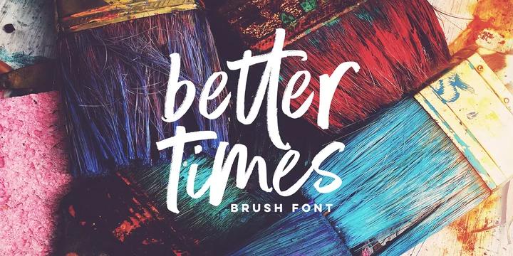 Better Times script font