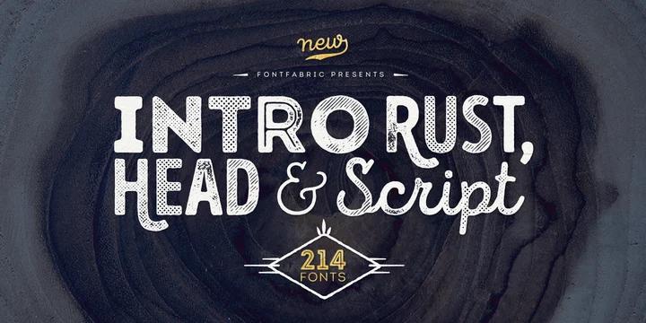 Intro Rust script font