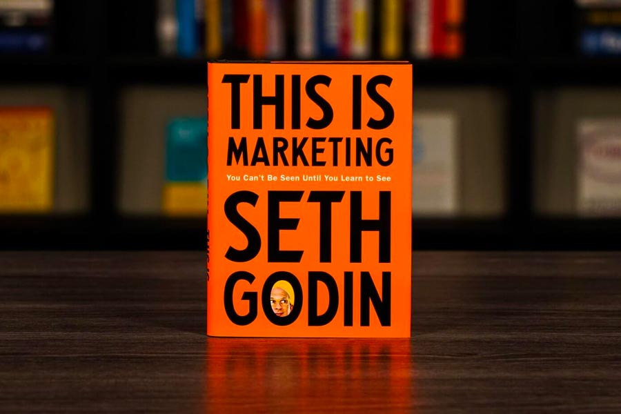 This Is Marketing by Seth Godin—A must-have book for innovative thinking and purposeful marketing.