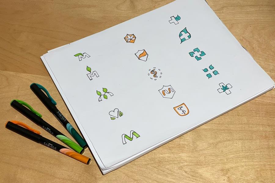 Logo Design Process—Logo sketches.