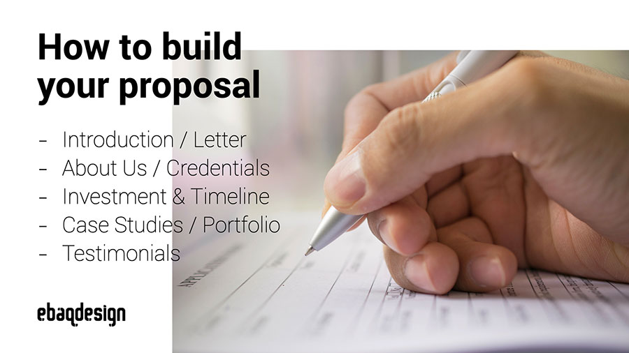 How to build a proposal?