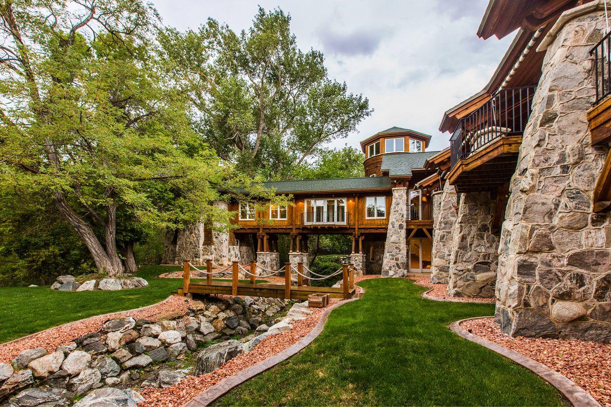 Luxury mountain mansion for sale salt lake city utah custom remodel massive windows