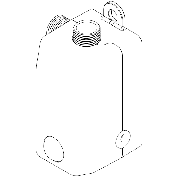 ISO top view of compact pump design in line drawing