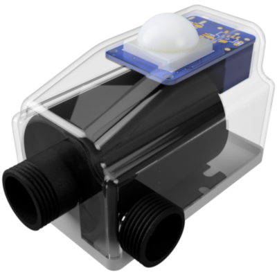 MARND disinfectant compact pump in a transparent shell, showcasing its internal components and PCB.