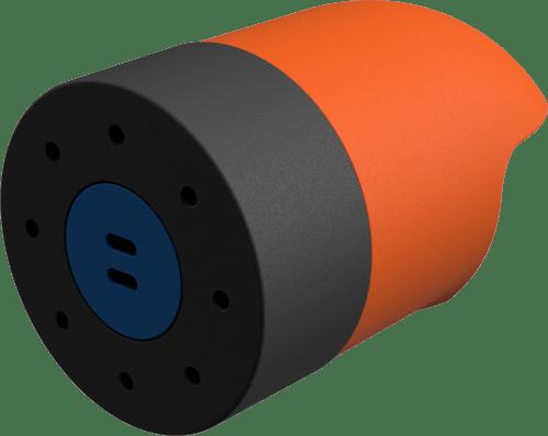 M2 robotic module in orange colour with a matte black end.