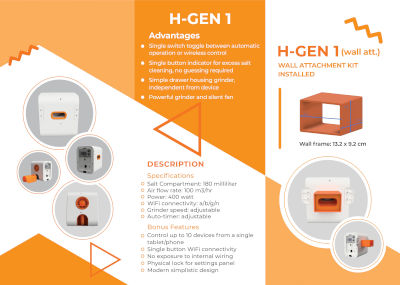 Brochure for halogenerator product.