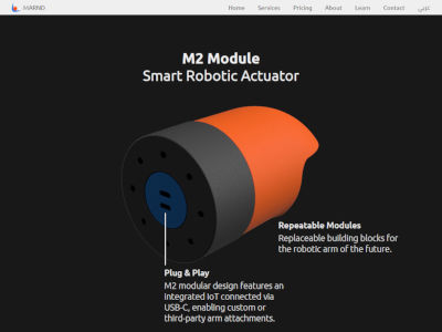 M2 module product landing page design
