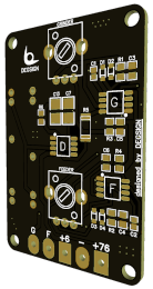 Control PCB chip in black colour and golden contacts