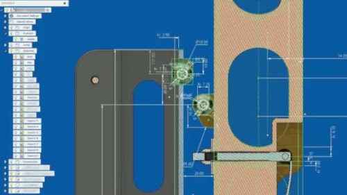 CAD design of an assembly
