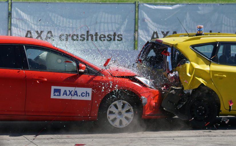 Car crash test.