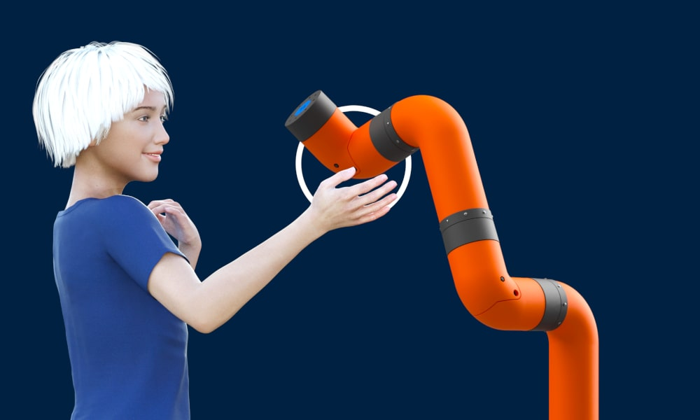 Render of our upcoming cobot arm, M2 Cobot