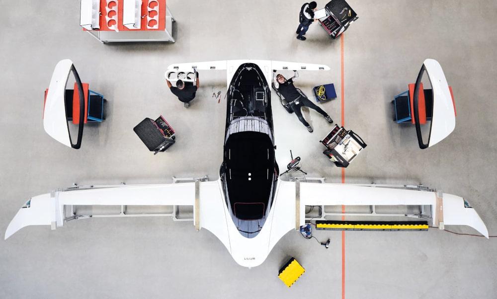 Lilium electric aircraft prototype