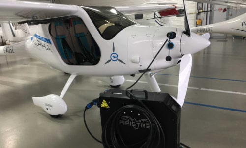 Alpha Electro electric aircraft with charging unit