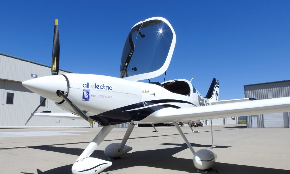 eFlyer demonstrator electric aircraft