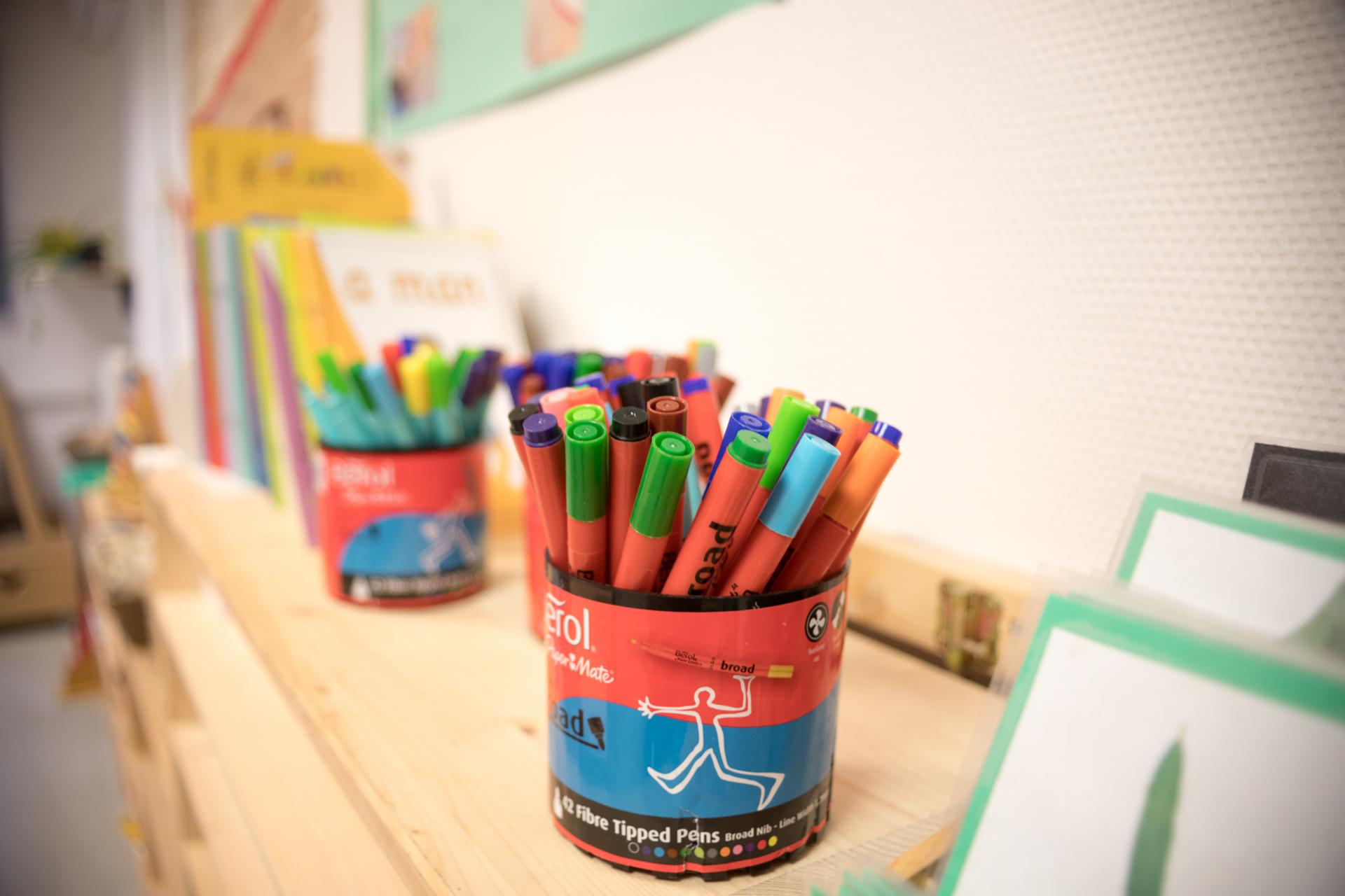 sunflower montessori art artwork pencils markers