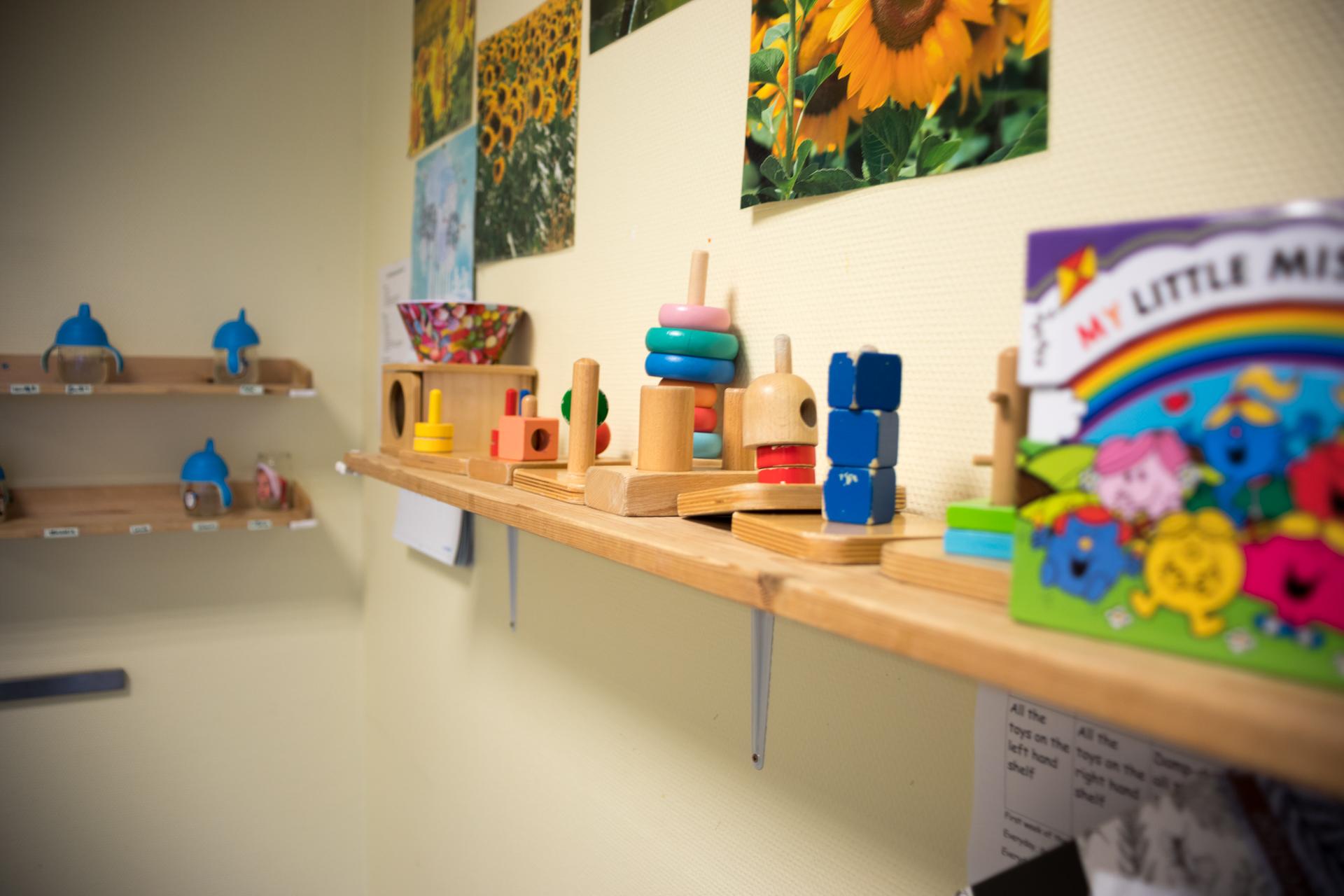 montessori work activity toys shelf sunflower