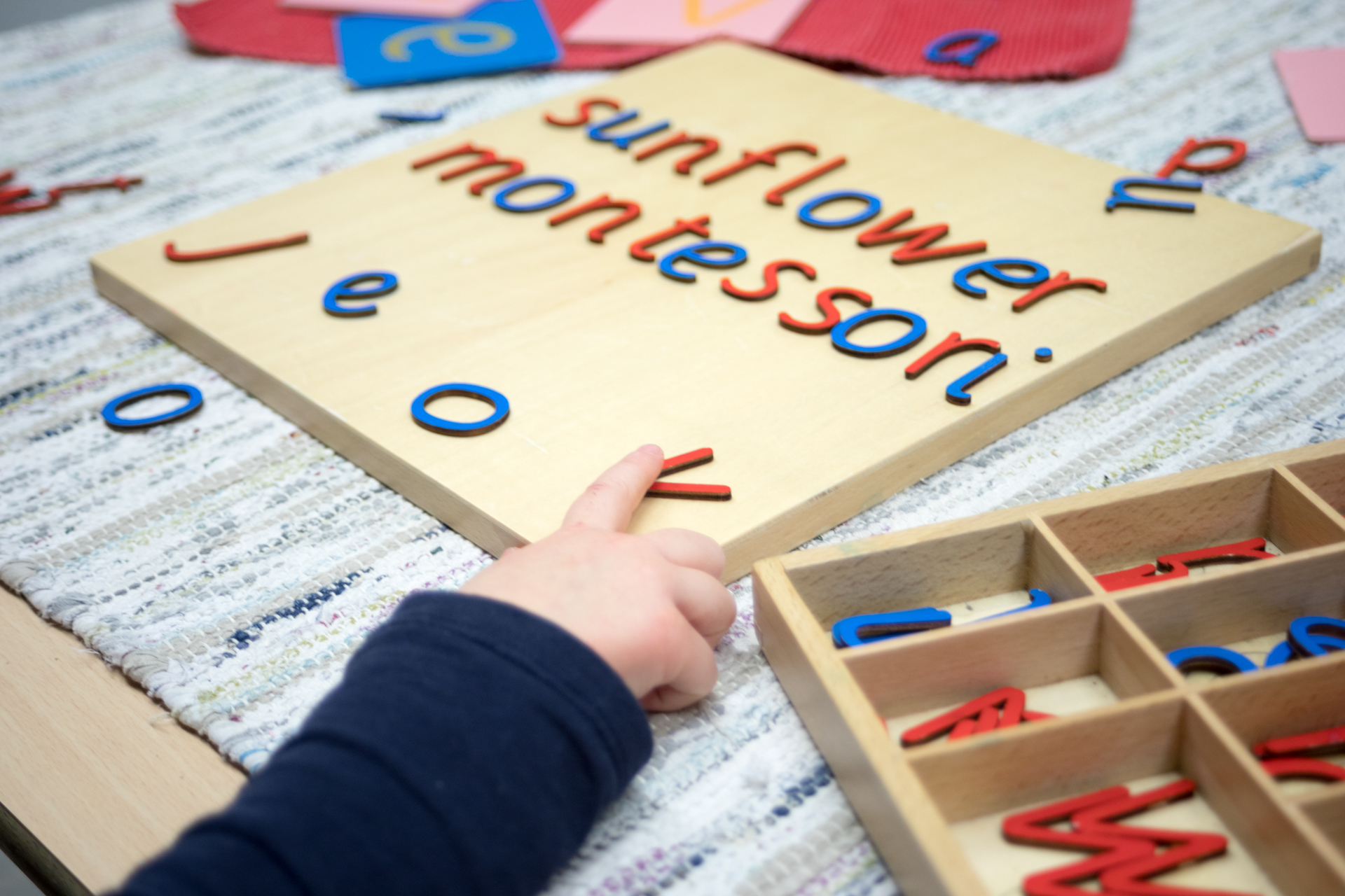 movable letters sunflower montessori