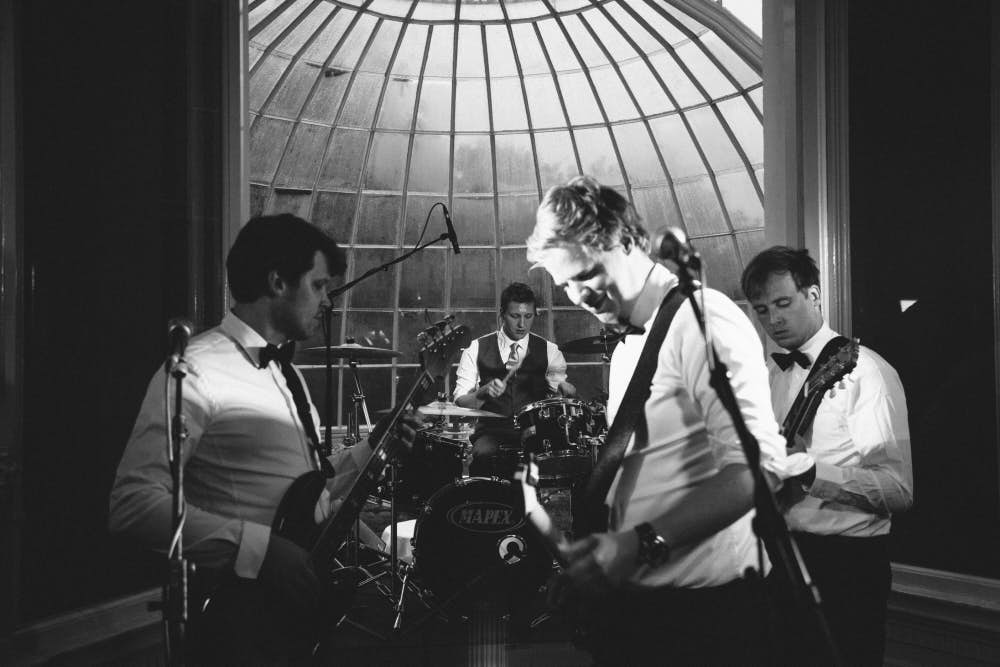 Band during wedding at Orangerie Elswout