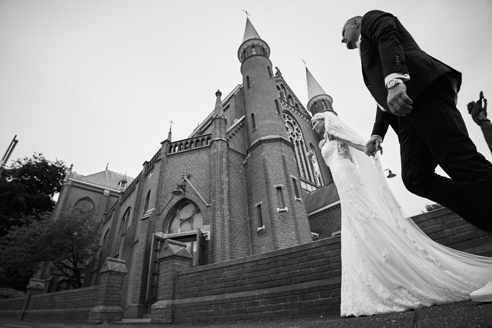 bruidspaar wandeling in alkmaar
