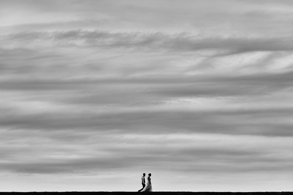 Bruidsfotograaf portret bruidspaar