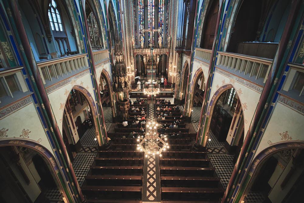 wedding ceremony in krijtberg amsterdam