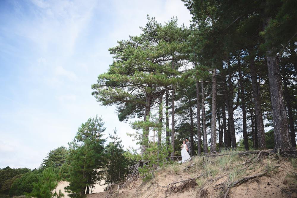 trouwportret oosterplas duinen bij bloemendaal