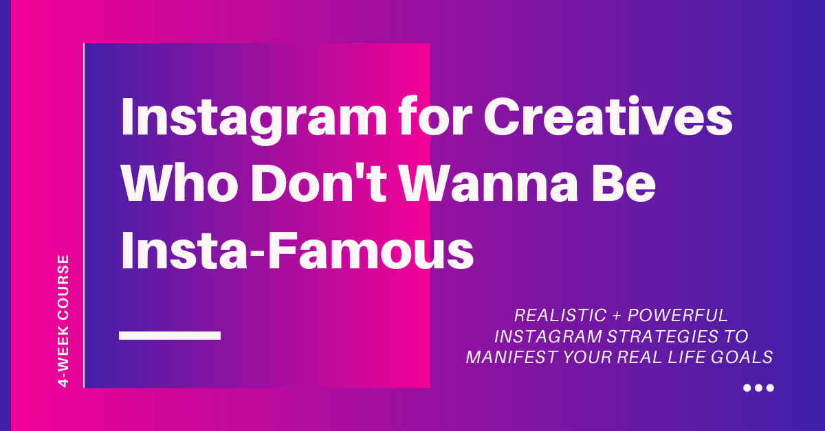 Instagram for Creatives Who Do Not Wanna Be Insta-Famous with Art Rat Theatre School