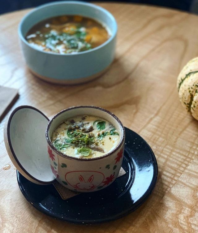 Oyster Chawanmushi special on the menu today. Savory Japanese Egg Custard with hidden treasure in each bite. #brunch #chesapeakebay #localflavor 📸 by @triedandtruerecipes