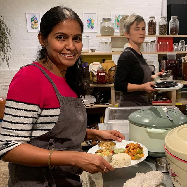 Saturday November 16th LARDER will host guest chefs @shanthimathivanan and @sumathy78 cooking the most delicious South Indian food inspired by their home city of Madurai. Crispy dosai cooked in ghee, tangy chutneys, warming lentil sambhar, spicy Chenai fish fry, savory curry chicken and a special surprise dessert! We will be serving from 5pm - 9pm or until we sell out. No tickets, no reservations, come early! Wine, beer and sake available from @faden.sonnen. #madurai #southindiancuisine #dosai #eatlocalbaltimore #events