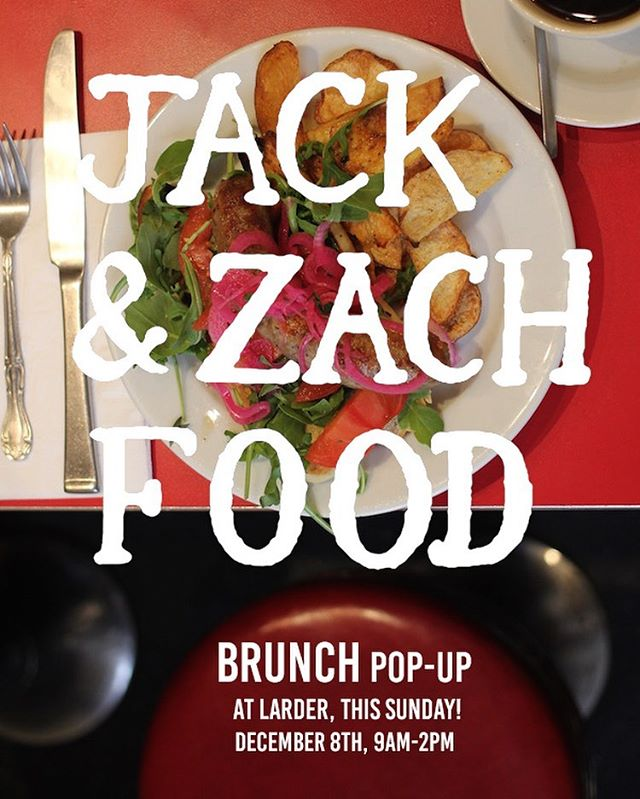 A little holiday magic: BRUNCH this SUNDAY 9-2, with Jack & Zack Food. Come for the locally sourced ingredients, omelettes, grits, bacon, stay for the @partnerscoffee #miracle blend brewed to perfection by @sophomorecoffee #breakfastvortex #jackandzackfoodlives