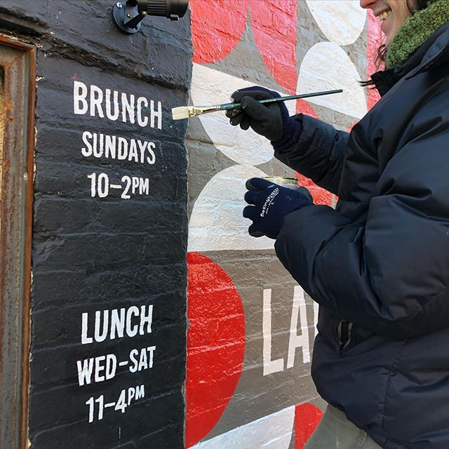 New Hours, starting Tomorrow! Open for Brunch on Sundays! 10-2. Open for Lunch Wednesday thru Saturday 11-4, Supper 5-9 Thursday, Friday, Saturday. See you tomorrow! #newhours #handpainted #winternews