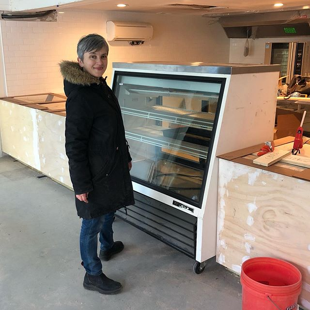 A year ago today, we had just started seeing the Larder space come together. This day we pushed the retail refrigerator (by hand) down the street a few blocks from its storage at @bar_clavel