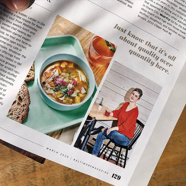 Wonderful to be included in the Best Restaurants issue of @baltmag with such luscious 📸 of our Three Sisters pozole and our chef Helena ... thanks to @kategrewal