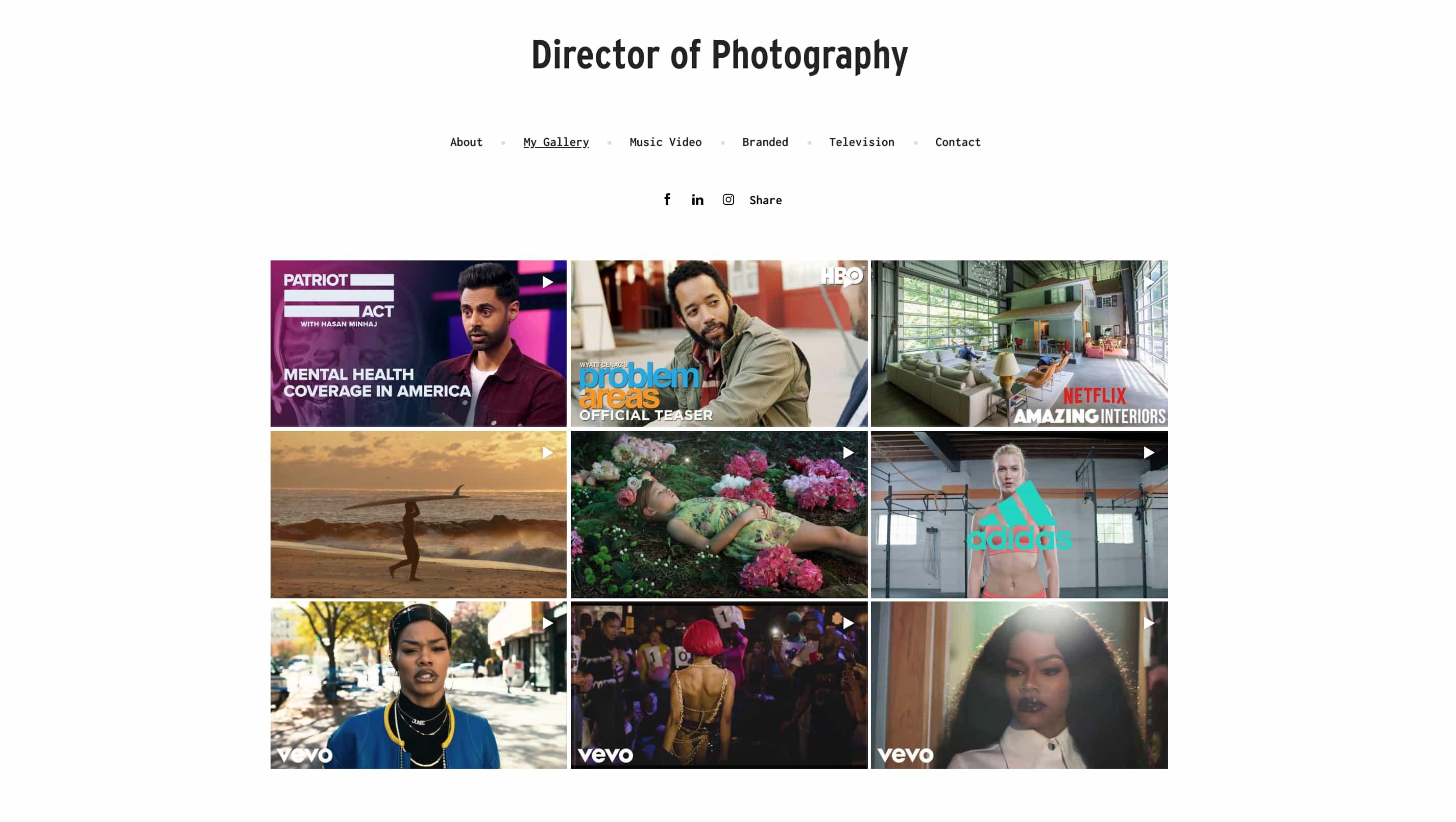 Example Video Portfolio