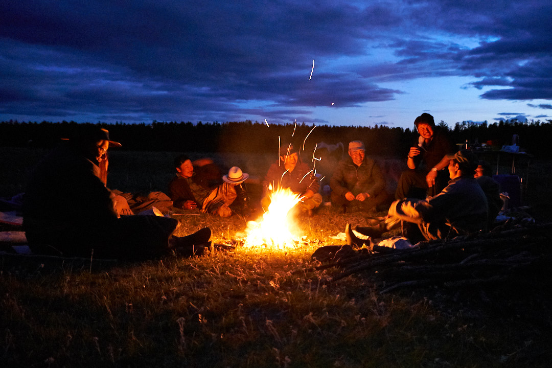 Around the campfire on a Mongolia horseback adventure