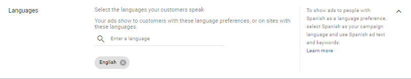 Targeting via language