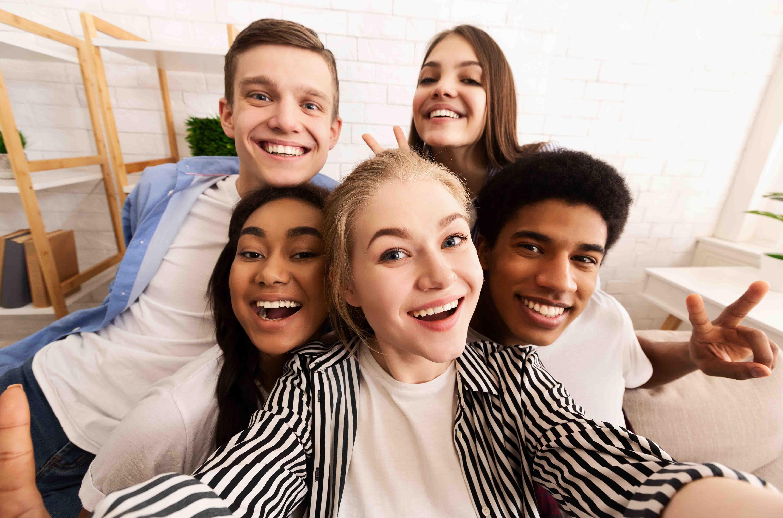 Teens posing for Tik Tok